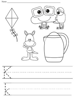 Learning to Trace and Writing Letters NO PREP