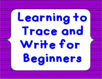 Learning to Trace and Write for Beginners (COLOR)