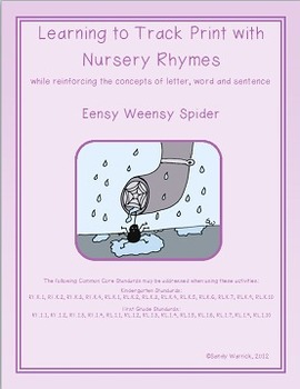Learning to Track Print with Nursery Rhymes:  Eensy Weensy Spider
