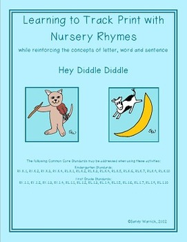 Learning to Track Print with Nursery Rhymes:  Hey Diddle Diddle