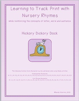 Learning to Track Print with Nursery Rhymes:  Hickory Dick