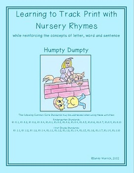 Learning to Track Print with Nursery Rhymes: Humpty Dumpty