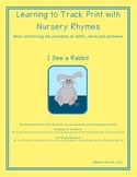 Learning to Track Print with Nursery Rhymes: I See a Rabbit Hop