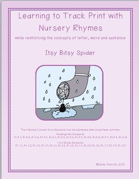 Learning to Track Print with Nursery Rhymes:  Itsy Bitsy Spider