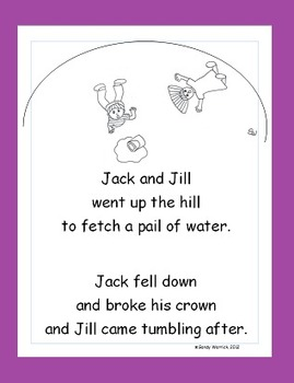 Learning to Track Print with Nursery Rhymes:  Jack and Jill