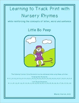Learning to Track Print with Nursery Rhymes:  Little Bo Peep