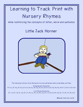 Learning to Track Print with Nursery Rhymes:  Little Jack Horner