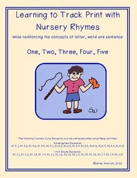 Learning to Track Print with Nursery Rhymes: One, Two, Three, Four, Five
