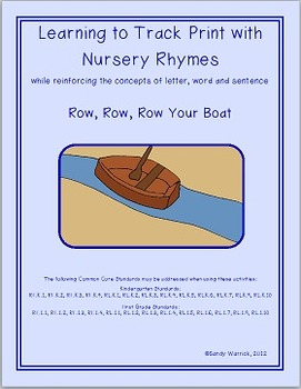 Learning to Track Print with Nursery Rhymes:  Row Your Boat