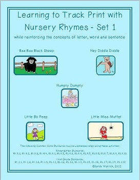 Learning to Track Print with Nursery Rhymes - Set 1