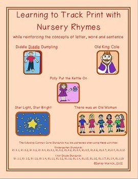 Learning to Track Print with Nursery Rhymes - Set 4