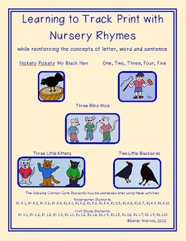 Learning to Track Print with Nursery Rhymes - Set 5