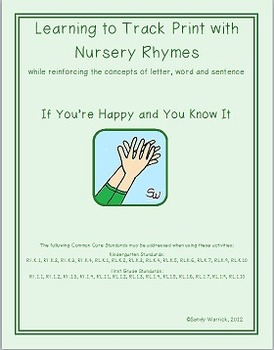 Learning to Track Print with Nursery Rhymes & Songs: If You're Happy & You Know