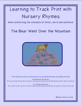 Learning to Track Print with Nursery Rhymes:  The Bear Went Over the Mountain