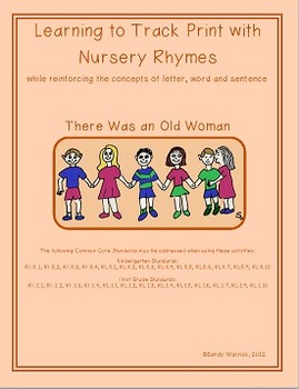 Learning to Track Print with Nursery Rhymes: There was an Old Woman