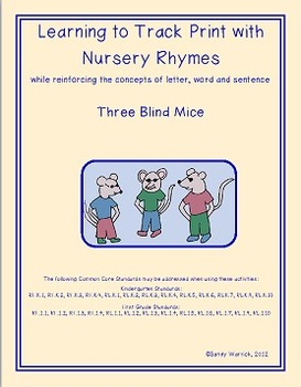 Learning to Track Print with Nursery Rhymes: Three Blind Mice