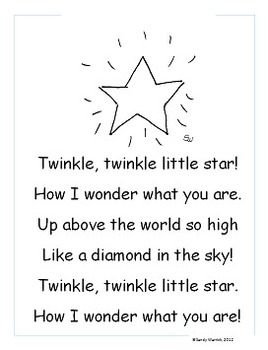 Learning to Track Print with Nursery Rhymes:  Twinkle, Twinkle, Little Star