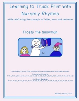 Learning to Track Print with Rhymes: Frosty the Snowman