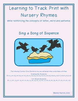 Learning to Track Print with Rhymes: Sing a Song of Sixpence