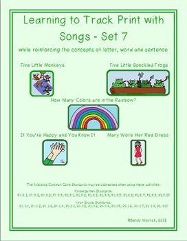 Learning to Track Print with Songs - Set 7