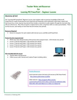 Learning to Use Microsoft PowerPoint - Beginner Lessons
