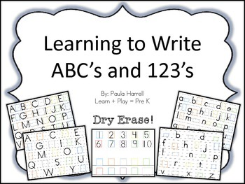 Learning to Write ABC's and 123's