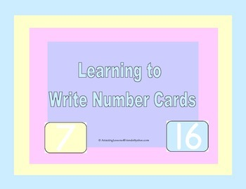Learning to Write Number Cards