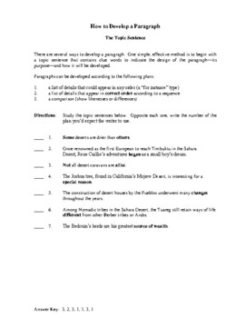Learning to Write Paragraphs, Step-by-Step Activities and Worksheets
