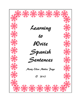 Learning to Write Simple Spanish Sentences