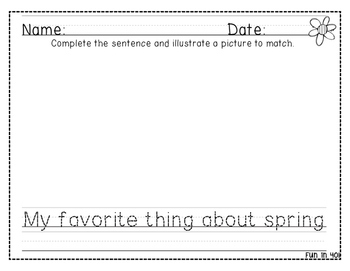 Learning to Write: Spring and Summer Themed