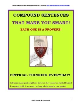 Compound Sentences with a Proverbial Twist! Critical Thinking on a New Level!