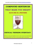 Compound Sentences with a Proverbial Twist! Critical Think