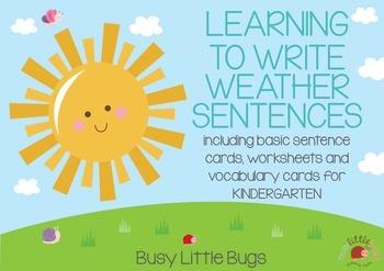 Learning to Write Weather Sentences - Vocabulary and Basic