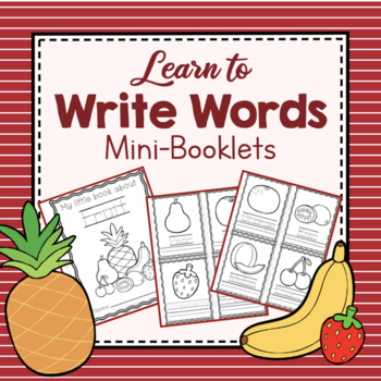 Learning to Write Words Coloring Booklets by Simply Schoolgirl | TpT