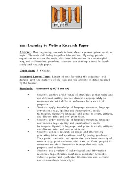 Learning to Write a Research Paper
