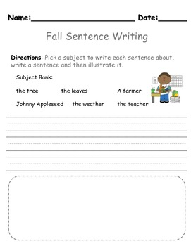 Learning to Write a Sentence