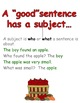 Learning to Write a Sentence Fall Version