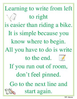 Learning to Write from Left to Right Poem