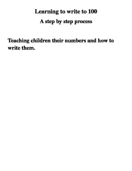 Learning to Write to 100