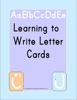 Learning to Writing letter Cards