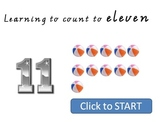 Learning to count to 11 - Interactive Whiteboard Lesson