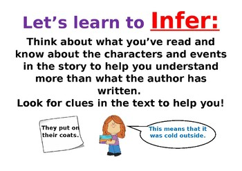 Learning to infer poster