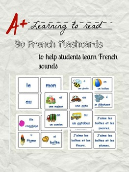 Learning to read sounds in French