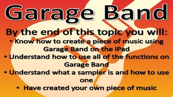 Garage band- learning how to teach