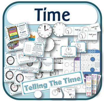Learning to tell the time resource pack including days, months and seasons