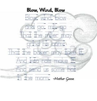 Learning to write with Mother Goose