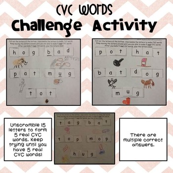 Learning with CVC Words BUNDLE-Games, Print & Go, & Spelling CVC Words