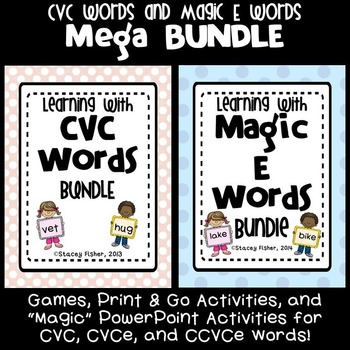 Learning with CVC  and Magic E Words MEGA-BUNDLE: Games, P