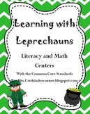 Learning with Leprechauns- Literacy and Math Centers w/ Co