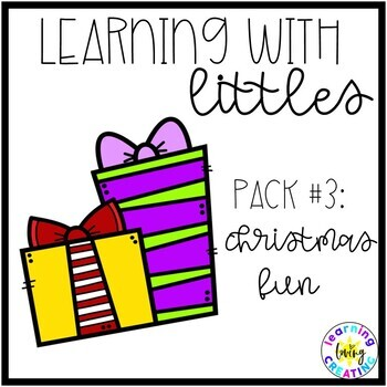 Learning with Littles:  Pack #3:  Christmas Fun